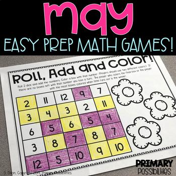 May Printable Math Games