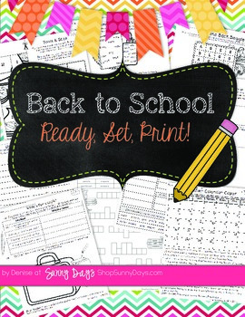 August and September Printable Pack