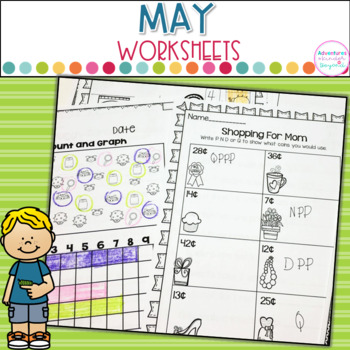 May Printables- Math and Literacy On The Go