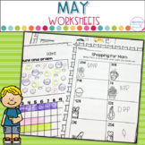 May No Prep Printables Math and Literacy On The Go