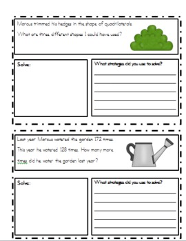 May Problem Solving Booklet (word problems)
