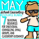 May Elementary School Counseling Resource Bundle - End of the Year - Summer