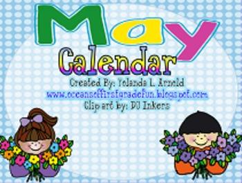 May Promeathean Board Calendar
