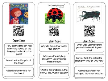 May QR Code Bookmarks with Comprehension Questions