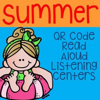 Summer QR Code Read Aloud Listening Centers