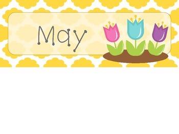 May Quatrefoil Calendar Set