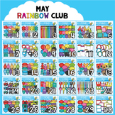 May Rainbow Club Clipart Bundle