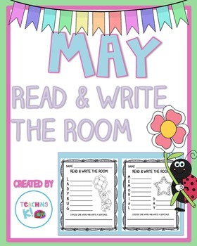 May Read & Write the Room (Writing Center Activity for K-1)