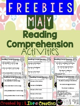 May Reading Comprehension Activities Freebies