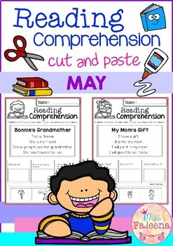 May Reading Comprehension Cut and Paste