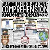 May Reading Comprehension Passages 4th Grade 3rd Grade & 5th Grade