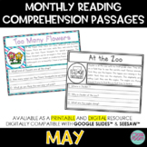 May Reading Comprehension Passages | Google Slides™ & SeeSaw™