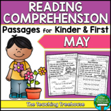May Reading Comprehension Passages for Kindergarten and Fi