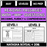"May Reading Comprehension Passages with ""WH"" Questions (Leveled)"