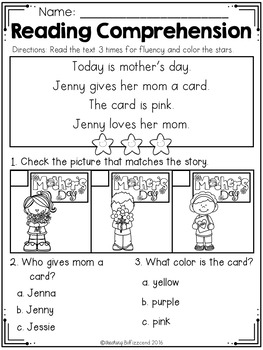 May Reading Comprehension Read and Match