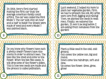 May Reading Fluency Task Cards