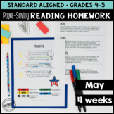 May Reading Homework for 4th & 5th Memorial Day, Mother's