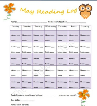 May Reading Log