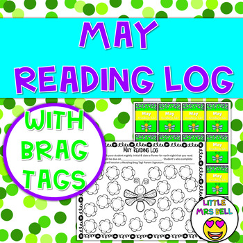 May Reading Log & Brag Tag