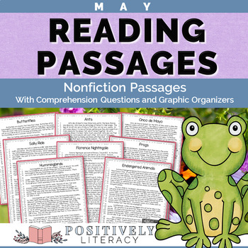 May Reading Passages - Nonfiction Text & Comprehension Activities