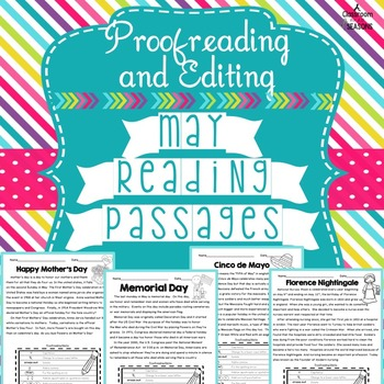 May Reading Passages: Proofreading and Editing