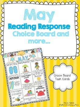 May Reading Response Choice Board