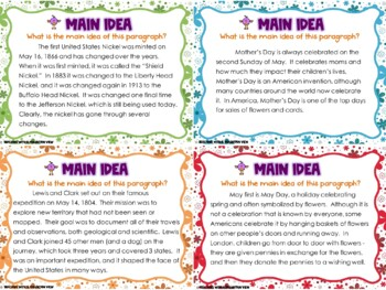 May Reading Skills Task Cards
