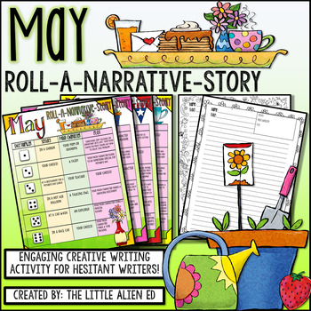 May Roll-A-Story Narrative Writing Activity