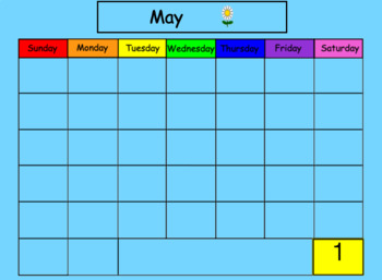 May SMART Board Calendar Math for Kindergarten