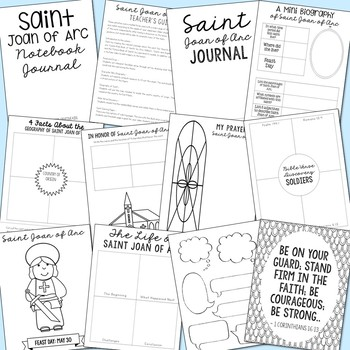 May Saints BUNDLE of Notebook Journal Projects, Catholic Resources