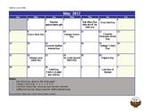 May School Culture Calendar
