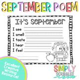 September Sensory Poem