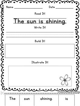 May Sentence Builders {morning work, word work, daily 5, & centers}