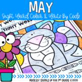 May Sight Word Color and Write by Code