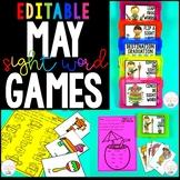 May Sight Word Games - Editable