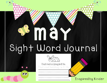 May Sight Word Journal-Print and Go!