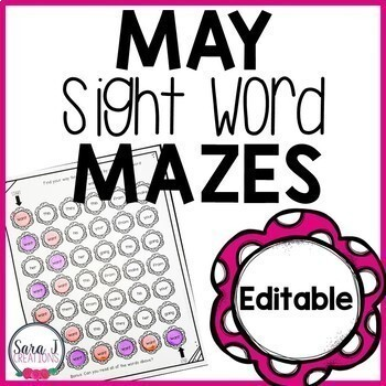 May Sight Word Mazes