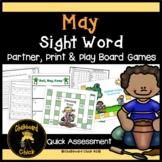 May Sight Word Partner, Print & Play Board Games and Quick