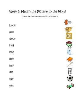 Simple Spell Kindergarten Letter-Sound Literacy Center Week 1 & 2