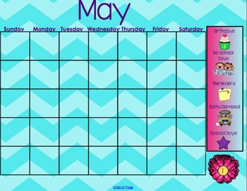 May Smartboard Calendar