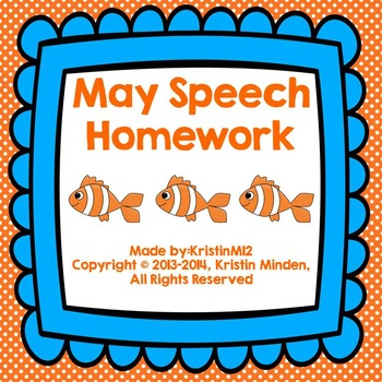 May Speech Homework