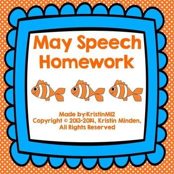 May Speech Homework