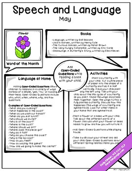 May Speech & Language Newsletter