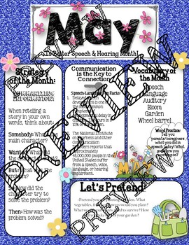 May Speech and Language Newsletter: Vocabulary, Strategies, Carry-over