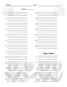 May Spelling Test Template