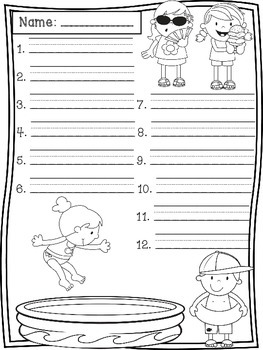May Spelling Test Templates