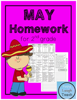 2nd Grade Spiral Language Arts Homework - May