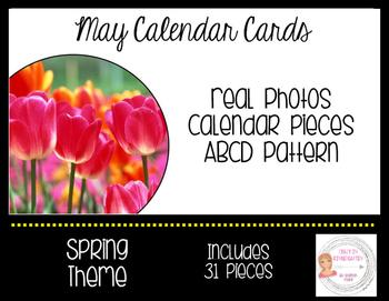 May Spring Calendar Cards-Real Photos