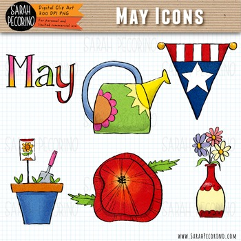 May Spring Clip Art {First Edition}