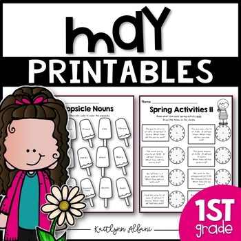 May Printables - Math and Literacy Packet for First Grade